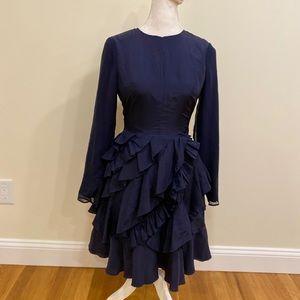 Grey Jason Wu Womens Dress Blue Size 4 Ruffle